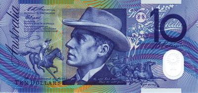 $10 note with Banjo Paterson on it